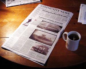 Newspaper and Tea